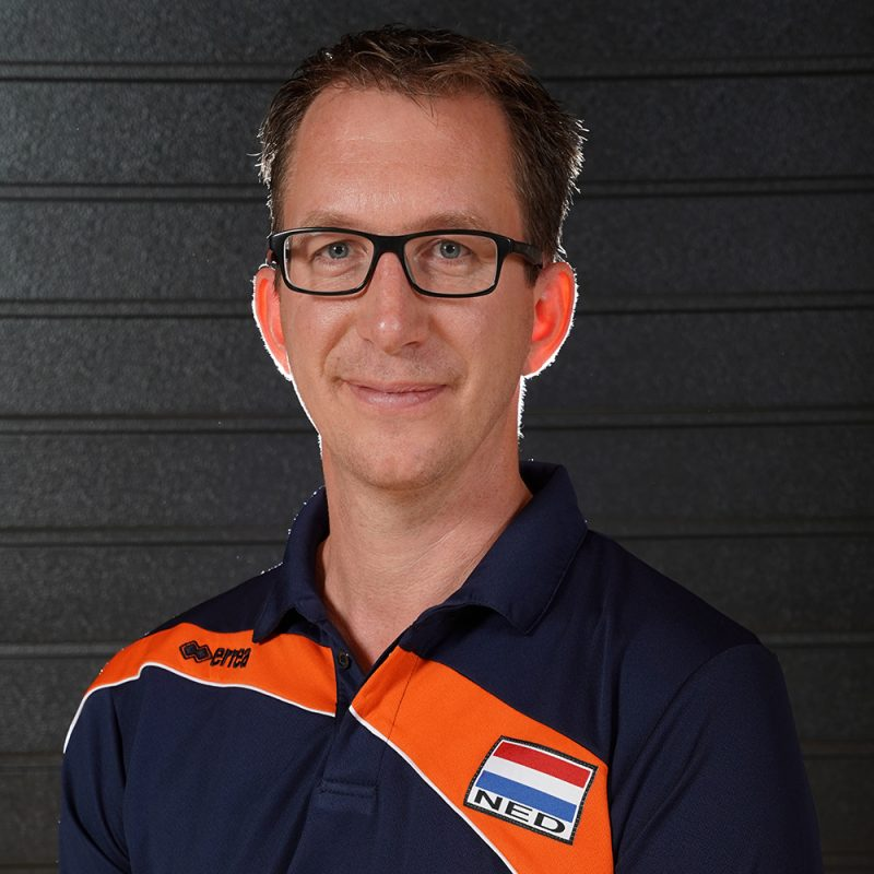 hoiUtrecht Hans Mater coach zitvolleybalteam
