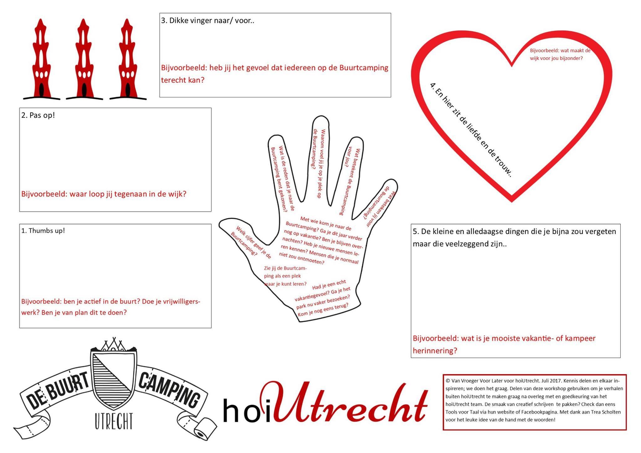 VerhalenWorkshop hoiUtrecht Buurtcamping werkblad